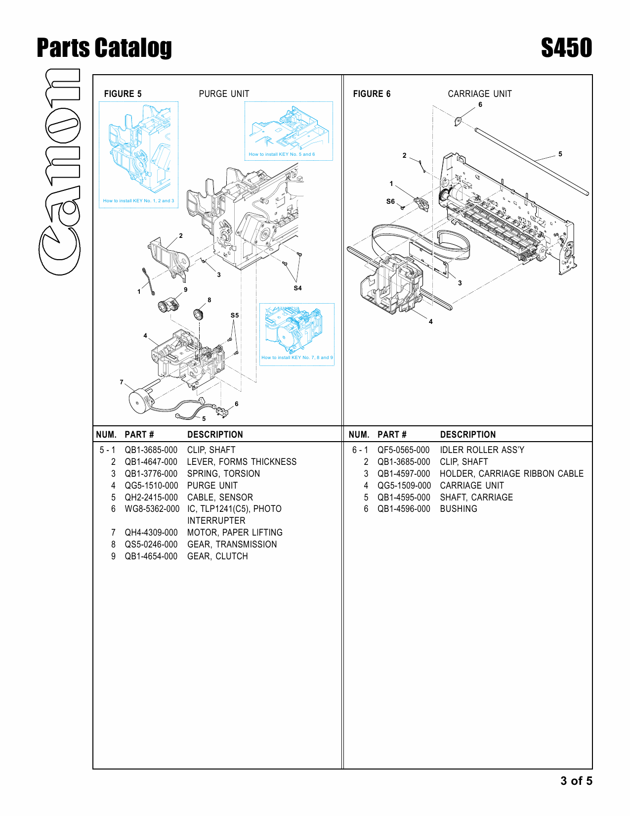 Canon PIXUS S450 Parts Catalog Manual-4